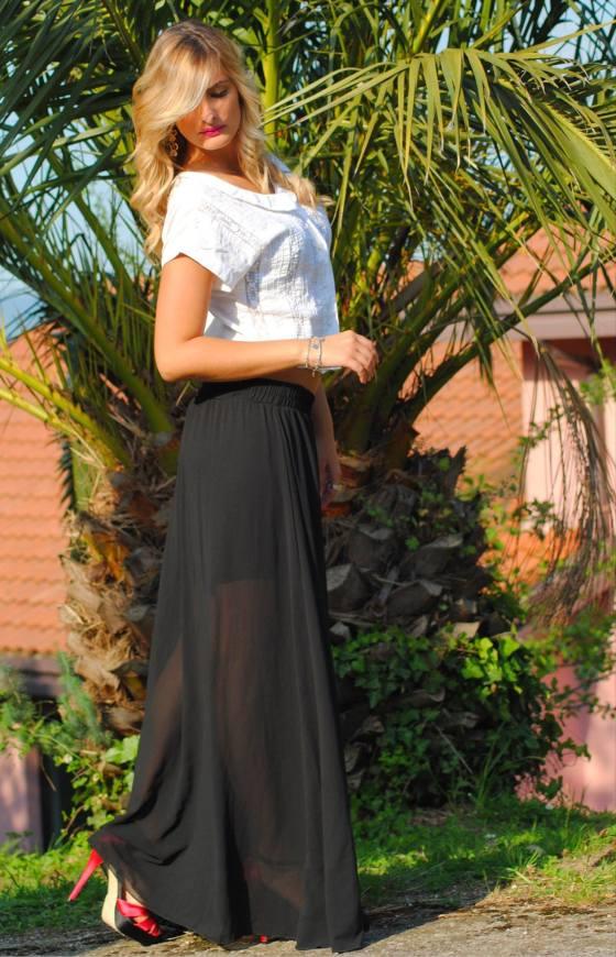 Maxi skirt, Bershka,